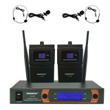 Compare Prices For Freeboss Kv 22 Vhf Dual Way Headset And Lavalier Wireless Microphone Intl