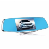 Price Front And Rear Dash Cam 1080P Dual Lens Rear View Mirror Camera 4 3 Screen Car Video Recorder With Parking Monitor Intl On Singapore