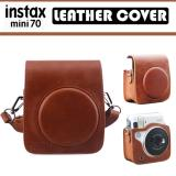 Get The Best Price For Fujifilm Instax Mini 70 Camera Brown Leather Cover Casing