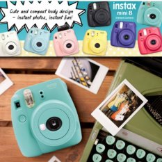Fujifilm Instax Mini 8 Instant Camera (Mint) + Fuji White Edge Instant 10 Film