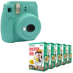 Fujifilm Instax Mini 8 Instant Camera (Mint) + Fuji White Edge Instant 100 Film