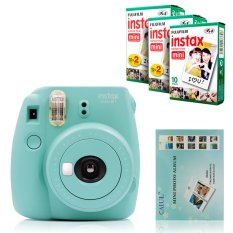Fujifilm Instax Mini 8 Instant Camera (Mint) + Fuji White Edge Instant 50 Film