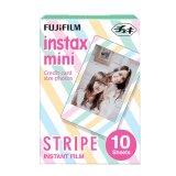 Fujifilm Instax Mini Stripe Instant Films 10 Sheets Sale