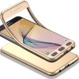 Where To Buy Full Body Case For Samsung Galaxy J5 Prime Soft Tpu Matte Finish Slim Cover 2 In 1 Full Coverage Protection With Tempered Glass Screen Protector Gold Intl
