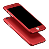 Full Body Protective Matte Case For Apple Iphone 6 6S 4 7 Red Intl For Sale