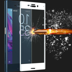Who Sells Full Covered Curved Tempered Glass Screen Protector For Sony Xperia Xz White Cheap