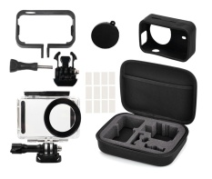 Where To Shop For Full Protective Kit Bag Waterproof Housing Case Side Frame Cover Silicone Shell For Xiaomi Mijia 4K Mini Camera Intl