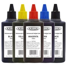 Fullmark Universal Inkjet Ink Ultra Value Set, 100ml (2 X Black, 1 X Cyan, 1 X Magenta And 1 X Yellow) - Compatible With Hp, Canon, Epson, Brother And Lexmark By Fullmark Pte Ltd.