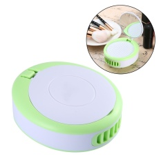 fuskm Summer Cooler Mini Portable Usb Fan Handheld Bladeless Fan With Makeup Mirror(Green) - intl