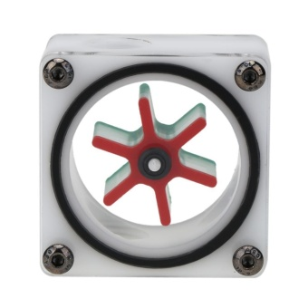 G1/4 Port 3 Impeller Water Flow Meter Indicator for PC Water Cooling System(White)