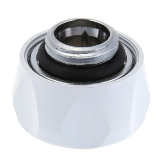 G1/4 Thread Quick Fixing Hard Tube Connector for PC Water Cooling System(White)