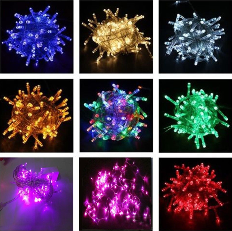 GAKTAI 10M 100 LED Bulb Christmas Fairy Party Deco String Lights Waterproof 220 V EU Plug (Multicolor) Singapore