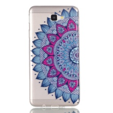 Galaxy J7 Prime Case, Beautiful Pattern Bas-relief Ultra Thin Soft TPU Gel Silicone