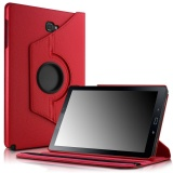 Sale Galaxy Tab A 10 1 With S Pen Case Smart Pu Leather 360 Degrees Rotating Stand Case Cover For Samsung Galaxy Tab A 10 1 With S Pen P580 Tablet Only Red Intl China