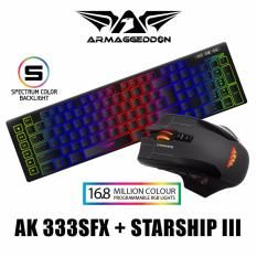 Sale Gaming Bundle 9 Button Rgb Gaming Mouse Armaggeddon Starship Iii With Free Mousemat Ak 333Sfx Gaming Keyboard On Singapore