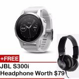 Coupon Garmin Fenix 5S Carrara White White Free S300I Headphone