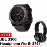 How Do I Get Garmin Fenix 5X Sapphire Edition Multi Sport Training Gps Watch Slate Gray Black Band Free Jbl S300I Headphone