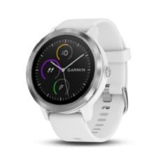 New Garmin Vivoactive 3 White With Stainless Hardware