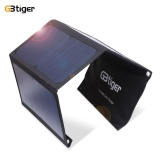 Gbtiger 21W Portable Sunpower Solar Charger Panel Dual Usb Black Intl Reviews