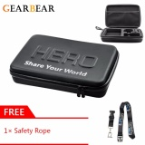 Gearbear Large Size Waterproof Pu Leather Carrying Case Protective Security Bag Gift Safety Lanyard For Gopro Hero 6 5 4 3 3 2 1 Session Sports Action Camera Accessories Free Shipping