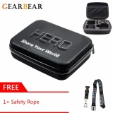 Buy Gearbear Medium Size Waterproof Pu Leather Carrying Case Protective Security Bag Gift Safety Lanyard For Gopro Hero 6 5 4 3 3 2 1 Session Camera Accessories