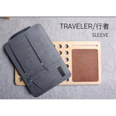 Compare Prices For Gearmax Travellers Pocket Sleeve Water Resistant With Side Pockets Laptop Handbag For 13 3 Inch Macbook Air Pro Notebook Cover Bag 13 3 Inch Grey Intl