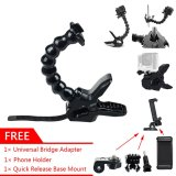 Review Gearbear 7 Section Adjustable 19 5Cm Jaws Goose Neck Arm Flexible Clamp Mount Gift Universal Adapter Phone Holder For Gopro Hero 6 5 4 Session 3 3 2 1 Etc Sports Action Camera And Smart Mobile Cell Phone Gearbear On China
