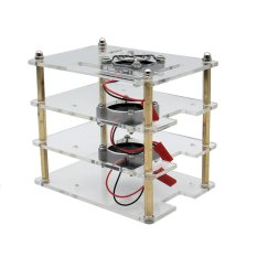 Who Sells Geekworm 3 Layers Acrylic Shell 3 Pieces Cooling Fan For Raspberry Pi Intl