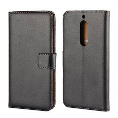 How To Get Genuine Leather Wallet Case Cover For Nokia 5 Intl