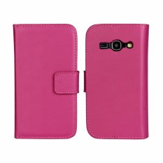 Best Deal Genuine Leather Wallet Case Cover For Samsung Galaxy Ace 3 Rose Intl