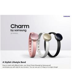 Buy Genuine Samsung Charm Wearable Fitness Smart Band Activity Rose Quartz Online