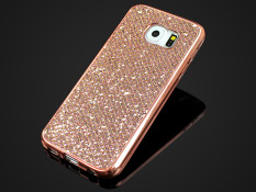 Discounted Glitter Bling Soft Tpu Rubber Case For Samsung Galaxy S7 Edge Rose Gold Intl