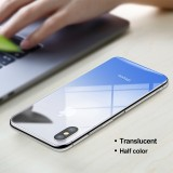 Discount Gradient Blue Baseus For Iphone X Back Gradient 9H Tempered Glass Film Back Film Cover Protector Ultra Thin Scratch Proof Glass For Iphone X Intl Baseus On China