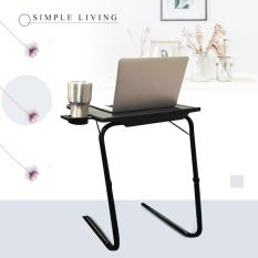 Grand Innovations Portable Mate TV Dinner LaptopTray Adjustable Folding Table With Cup Holder