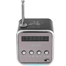 List Price Handsfree Portable Mini Stereo Super Bass Speaker Amplifier Subwoofer Fm Radio Usb Micro Sd Tf Card Mp3 Player Td V26 Intl Oem