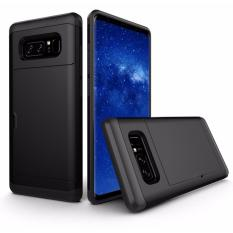 Review Hard Card Slide Case Casing Cover For Samsung Galaxy Note 8 Black Oem