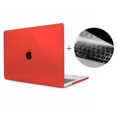 HAT PRINCE Clear PC Hard Shell + TPU Keyboard Cover for 2016 MacBook Pro 13-inch without Touch Bar A1708 - Red - intl