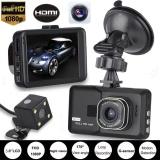 Hd 1080P Dual Lens Camera Car Dvr Vehicle Video Recorder Rear Dash Cam G Sensor Intl Shop