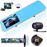 Top Rated Hd 1080P Dual Lens Car Dash Cam Rearview Mirror Camera Rear Videorecorder Dvr
