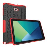 Best Heavy Duty Armor Case Cover For Samsung Galaxy Tab A 10 1 With S Pen P580 P585 Dual Layer Shockproof Kickstand Protective Red Intl