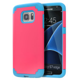 Coupon Heavy Duty Armor Shockproof Case For Samsung Galaxy S7 Edge Pink Blue