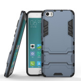 New Heavy Duty Shockproof Back Case With Stand For Xiaomi 5 M5 Mi5 Black