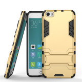 Heavy Duty Shockproof Back Case With Stand For Xiaomi 5 M5 Mi5 Gold Sale