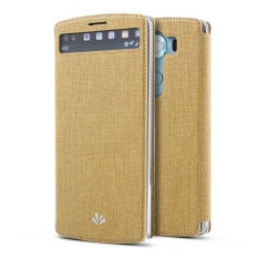 Best Buy Hicase Slim Pu Leather Flip Protective Magnetic Cover Case For Lg V10 With Card Slot And Stand Feature Gold Intl