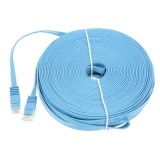 Wholesale High Quality 30M 98 42Ft Blue High Speed Cat6 Ethernet Flat Cable Rj45 Computer Lan Internet Network Cord Intl