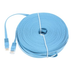 Buy High Quality 30M 98 42Ft Blue High Speed Cat6 Ethernet Flat Cable Rj45 Computer Lan Internet Network Cord Intl On China