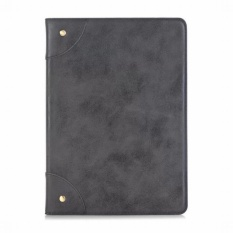 Coupon High Quality Book Retro Leather Case For New Ipad 2017 9 7 Business Foldable Stand Card Smart Cover For Apple Ipad 2017 Case Black Intl