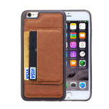 Cheapest High Quality Pu Leather Cell Phone Case For Apple Iphone 6 Plus 5 5 Inch Ultra Thin Original Protective Back Brown