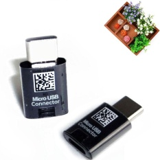 High Tech Micro Usb To Type-C Adapter Converter Connector Plug For Samsung Galaxy S8 Black - Intl By Mingrui.