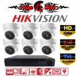 Hikvision Ds 2Ce56C0T 8Ch Hd Cctv 6 Pieces Dome Camera 1 Mp Dvr Kit Set Tvi Decoding New Exir 2017 Model 720P 3 6Mm Lens Digital Video Recorder Free Adapter Ds 2Ce56C7T Ds 2Ce56C0T Ds 2Ce56C1T Intl Best Buy